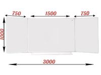 3-элементные Доска школьная магнитно-маркерная белая ДА-32 (б) маркер