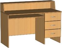 Библиотечная мебель Стол-кафедра библиотечный с 3 ящиками