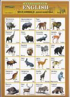 Английский язык Раздаточная таблица Английский в картинках Часть 16. Дикие животные