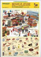 Английский язык Раздаточная таблица Английский в картинках Часть 17. Магазин