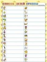 Для детского сада Список детей группы