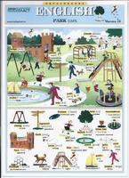 Английский язык Раздаточная таблица Английский в картинках Часть 18. Парк