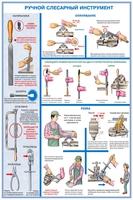 Кабинет слесарный Комплект плакатов Ручной слесарный инструмент (3шт)