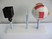 Модели по анатомии Прибор для демонстрации действия глаза Модель зрения