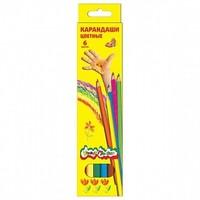 Канцелярия для детей Карандаши цветные шестигранные с заточкой