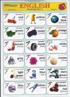 Английский язык Раздаточная таблица Английский в картинках Часть 23. Цвета