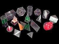 Модели Набор прозрачных геометрических тел с сечением разборный большой