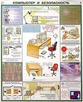 Кабинет информатики Плакаты Компьютер и безопасность 450*600 лам. 2 шт.