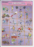 Английский язык Раздаточная таблица Английский в картинках Часть 24. Спорт
