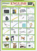Английский язык Раздаточная таблица Английский в картинках Часть 26. Школа