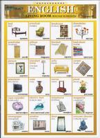 Английский язык Раздаточная таблица Английский в картинках Часть 30. Жилая комната