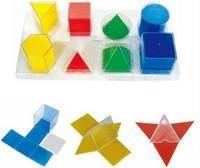 Модели Набор прозрачных геометрических тел с разверткой (8 фигур)