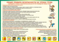 Остатки Таблица Общие правила безопасности на уроках труда (Винил)
