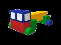 Мягкие игровые комплексы и модули Тягач