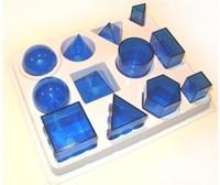 Модели Набор прозрачных геометрических тел разборный (12 предметов) малый