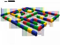 Мягкие игровые комплексы и модули Лабиринт большой