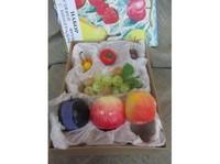 Распродажа со склада Набор муляжей фруктов с виноградом (витринный экземпляр)