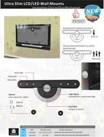 Аксессуары и прочее Ультратонкий настенный фиксированный крепеж для LCD/LED-телевизора