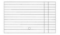 Бланки Каталожная карточка(двухцветная,разлинованная)