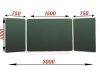 3-элементные Доска школьная магнитно-меловая зеленая ДА-32 (з) мел