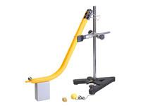 Механика Демонстрационный прибор для изучения траектории брошенного тела с лотком дугообразным по механике