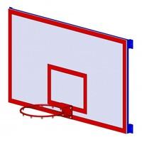 Оборудование баскетбол Щит б/б игровой на  раме 1,8х1,05м
