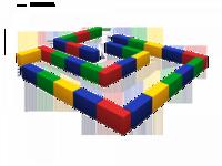 Мягкие игровые комплексы и модули Лабиринт маленький