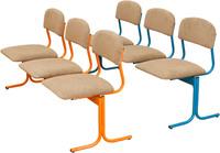Детские стулья Блок детских стульев 3-местный