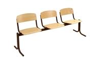 Актовый зал Блок стульев 3-х местный. Неоткидные сиденья, жесткие.
