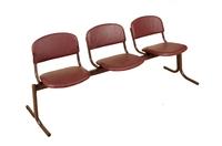 Актовый зал Блок стульев 3-х местный. Откидные сиденья.