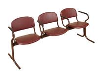 Актовый зал Блок стульев 3-х местный с подлокотниками. Неоткидные сиденья.
