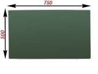 1-элементные Доска школьная магнитно-меловая зеленая ДА-10 (настольная)