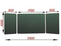 3-элементные Доска школьная магнитно-меловая зеленая ДА-34 (з) мел
