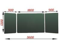 3-элементные Доска школьная магнитно-меловая зеленая ДА-38 (з) мел