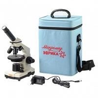 Микромед Микроскоп школьный Эврика 40х-1280х в текстильном кейсе (учебный)