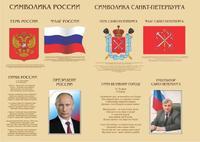 Стенды для детского сада Символика России и Санкт-Петербурга