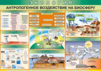Печатные пособия Таблица Антропогенное воздействие на биосферу (Винил)