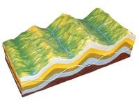 Коллекции,  модели Модель Строение земных складок и эволюция рельефа