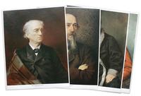 Портреты, демонстр. материал Набор репродукций «Русские писатели в живописных портретах»