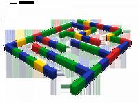 Мягкие игровые комплексы и модули Лабиринт средний