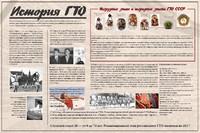 """Спортивные учреждения Стенд """"История ГТО"""""""