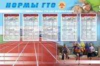 """Спортивные учреждения Стенд """"Нормы ГТО"""""""