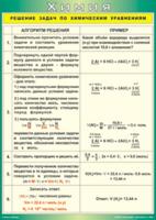 Пособия Таблица Решение задач по химическим уравнениям (Винил)