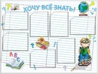 """Общеобразовательные учреждения Стенд информационный """"Хочу все знать"""""""