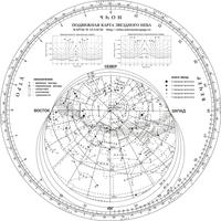Пособия по астрономии Карта звездного неба подвижная