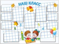 """Общеобразовательные учреждения Стенд информационный """"Наш класс"""""""