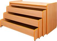 Мебель для спален Кровать трехуровневая раздвижная в коробе