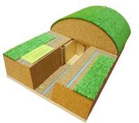 Макеты Макет простейшего укрытия (перекрытая щель) со съёмным элементом перекрытия.