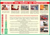Таблицы Таблица Действия при пожаре на предприятии (Винил)