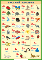 Таблицы Таблица Русский алфавит в картинках (Винил)